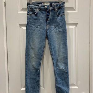 Zara high waist denim skinny jeans sz 26
